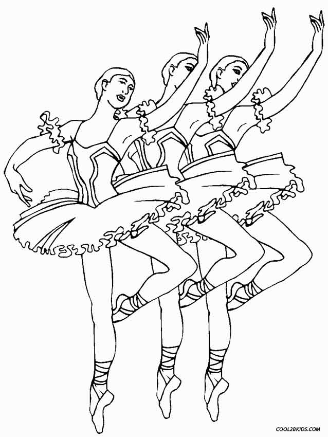 ballet coloring pages children - photo#14
