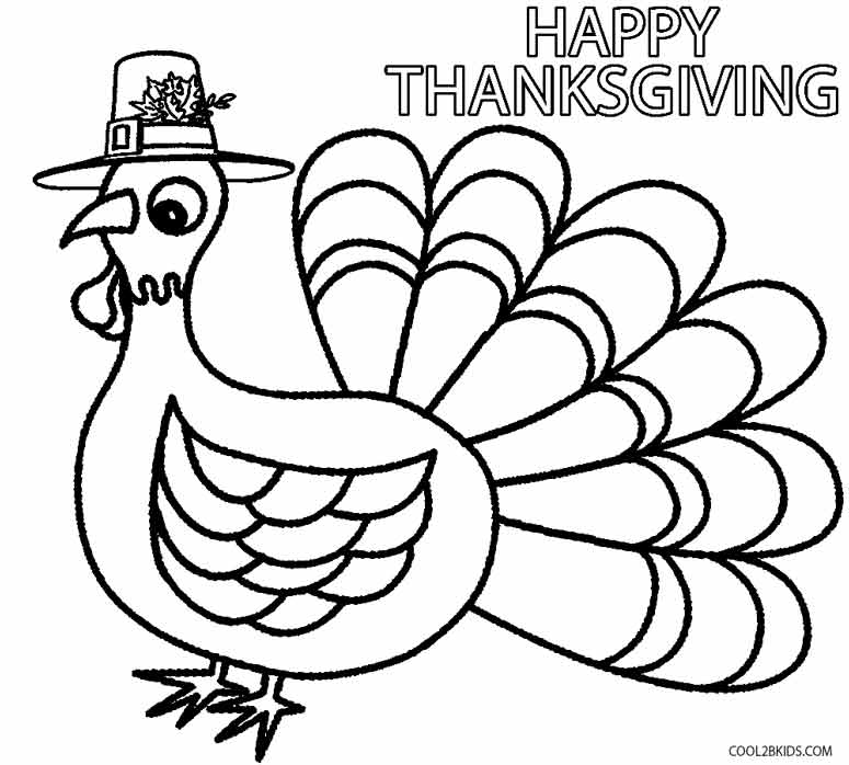 Thanksgiving coloring pages for toddler