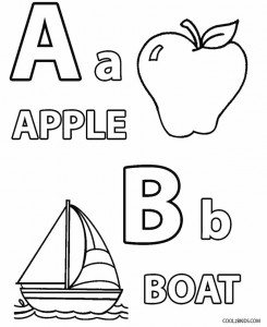 Toddler Alphabet Coloring Pages