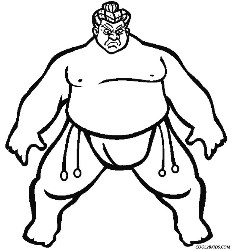 Printable Wrestling Coloring Pages For Kids | Cool2bKids