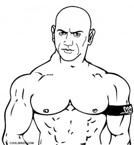 WWE Wrestling Coloring Pages