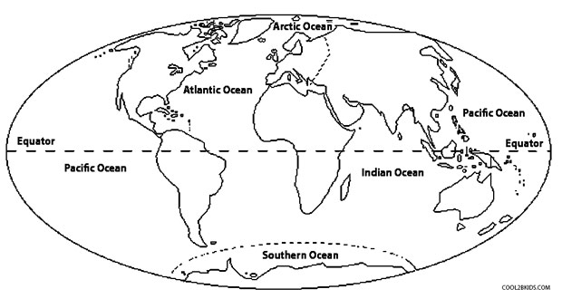 Free Map Of The World Coloring Pages