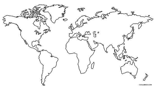 Map of the world continents coloring page coloring page for Continents coloring page