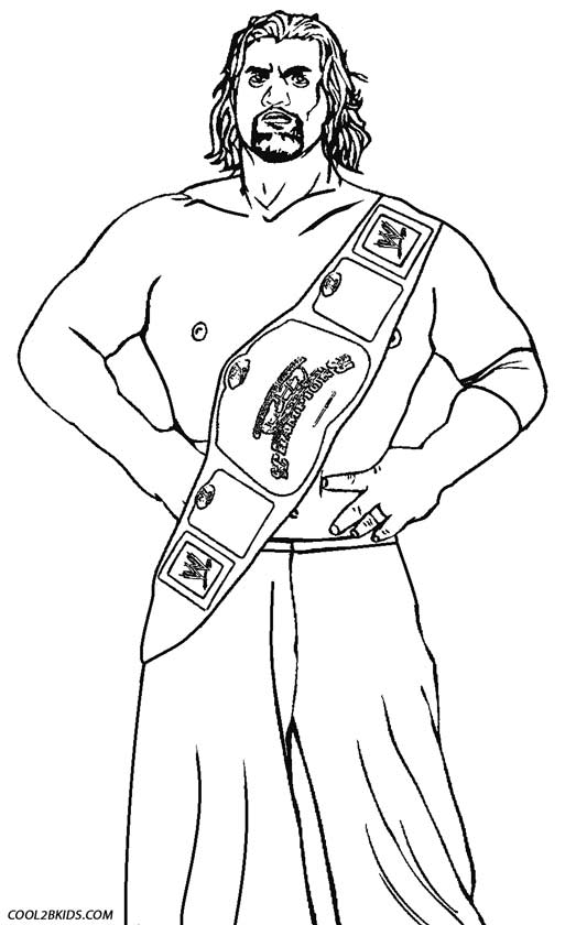 Wrestling Belt Coloring Pages