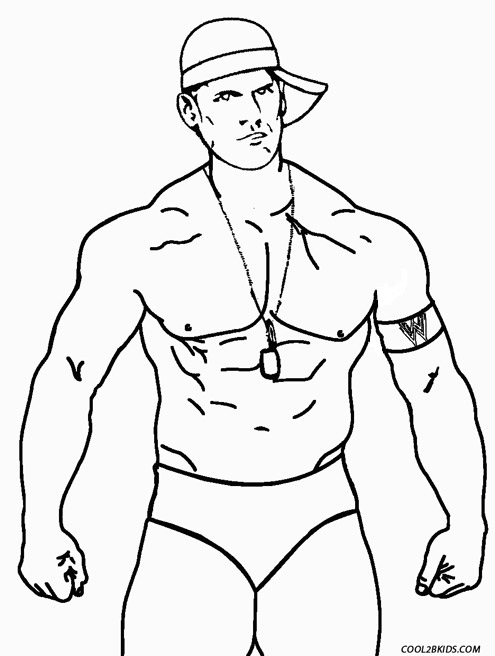 printable john cena coloring pages - photo#18