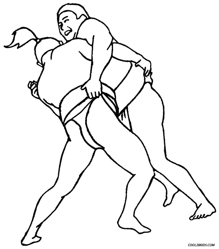 - Printable Wrestling Coloring Pages For Kids