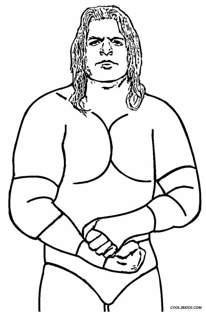 Printable Wrestling Coloring Pages