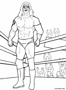 Wrestling Ring Coloring Pages
