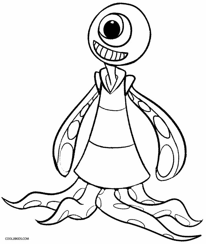 Alien Coloring Pages Alluring Printable Alien Coloring Pages For Kids  Cool2Bkids Inspiration Design