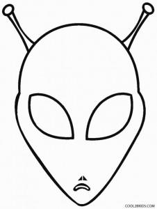 Alien Head Coloring Pages