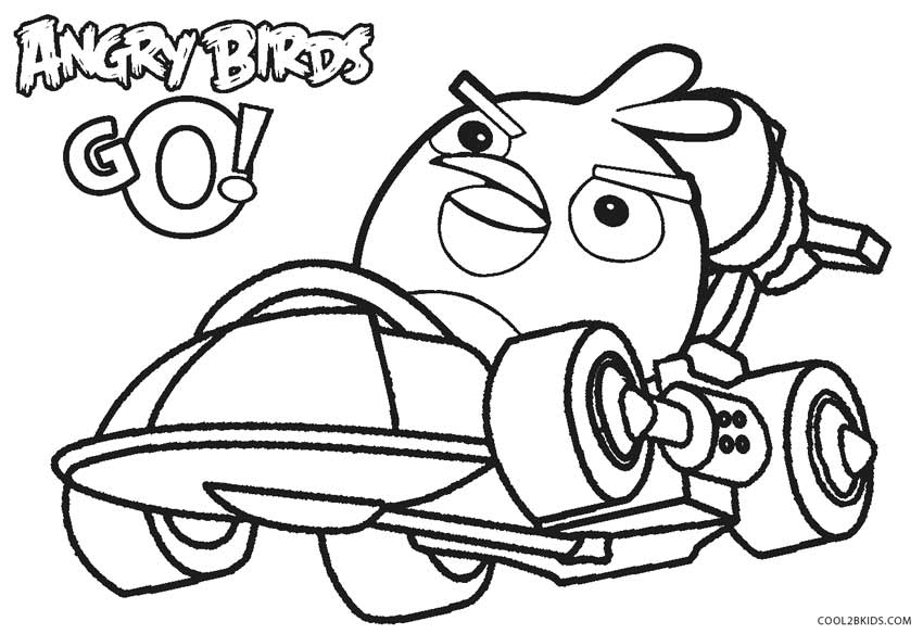 Angry Birds Go Coloring Pages Image Source