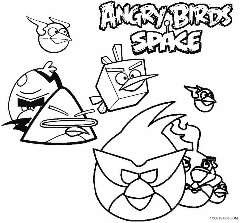 Aninimal Book: Printable Angry Birds Coloring Pages For Kids | Cool2bKids
