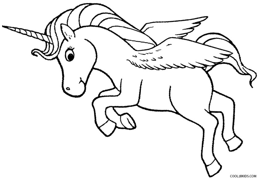 baby pegasus coloring pages - Coloring Page For Kids