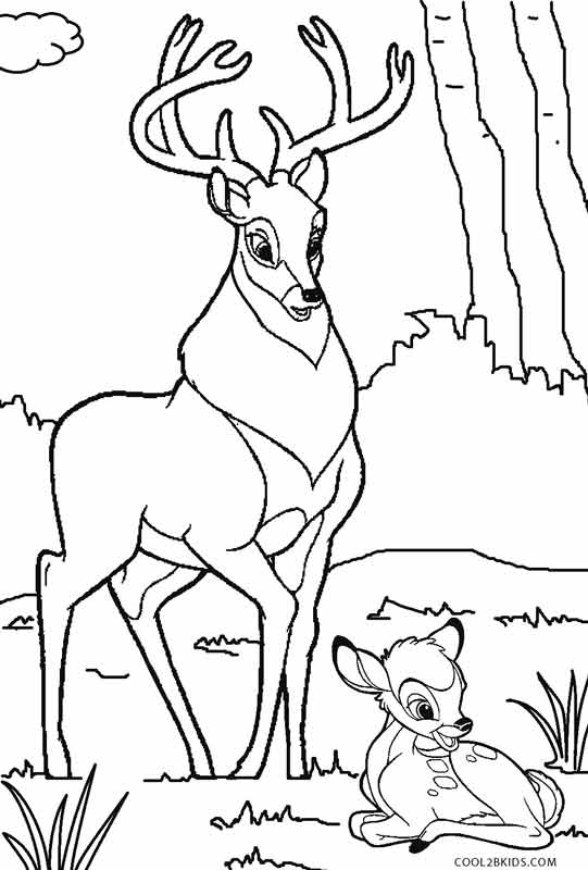 Printable Bambi Coloring Pages For Kids