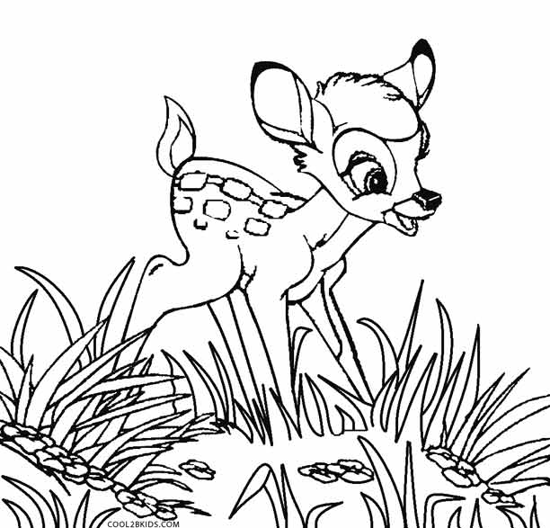 Printable Bambi Coloring Pages
