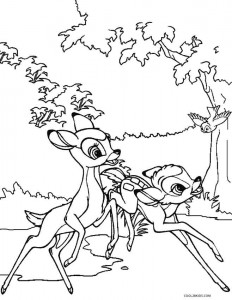 Bambi and Faline Coloring Pages