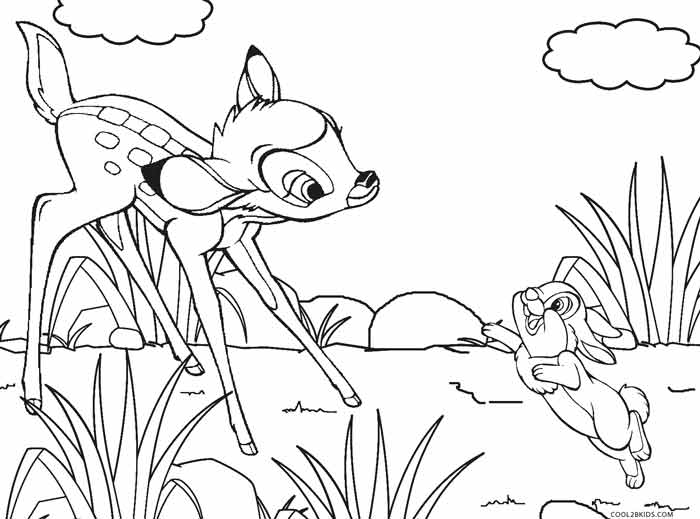 bambi and thumper coloring pages
