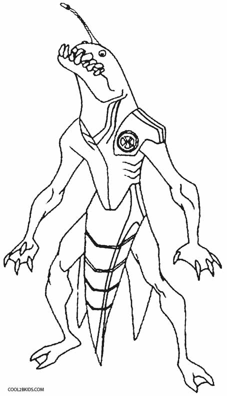 ben 10 alien coloring pages - Alien Coloring Pages 2