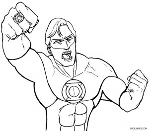 Black Green Lantern Coloring Pages