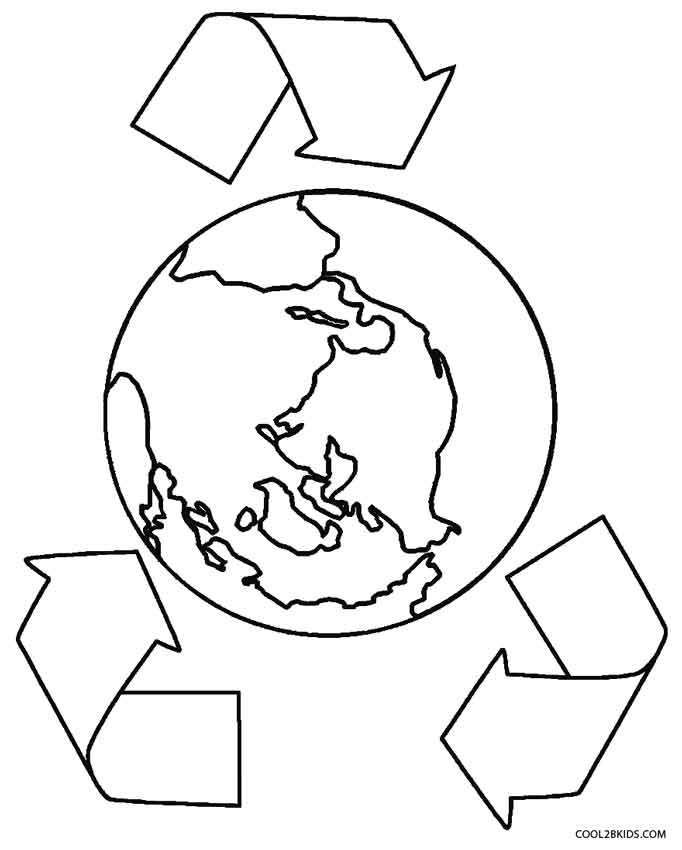 coloring page of the earth - Earth Coloring Pages