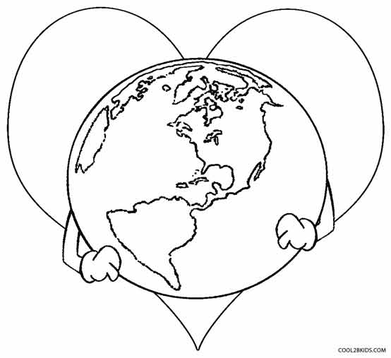 image regarding Printable Picture of Earth called Printable World Coloring Internet pages For Young children Neat2bKids