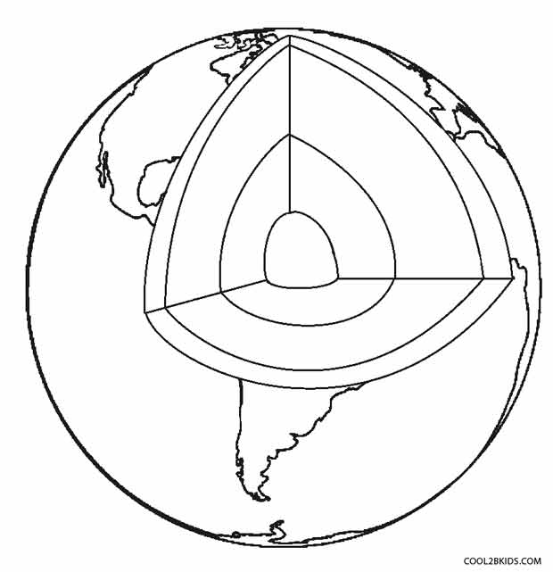 Earth Layers Coloring Pages