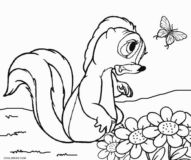 Flower From Bambi Coloring Pages