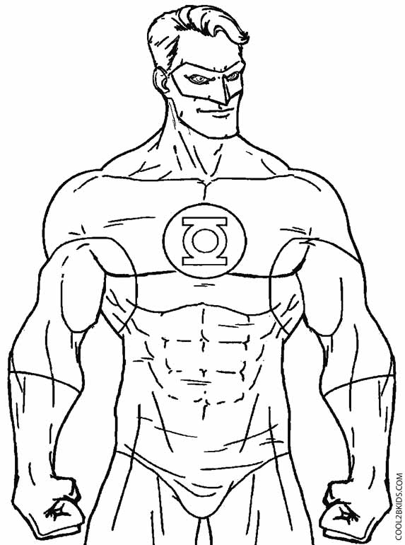 Printable Green Lantern Coloring Pages For Kids