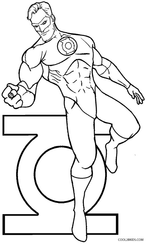 green lantern coloring pages - Green Lantern Logo Coloring Pages