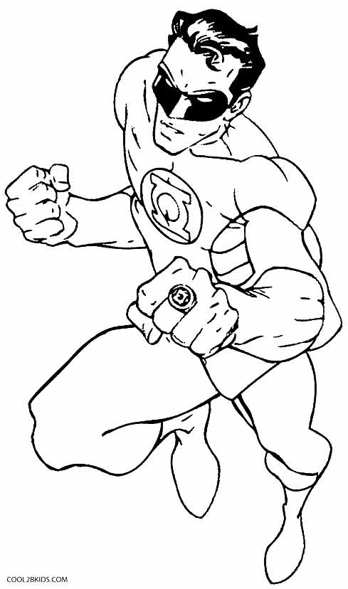 green lantern ring coloring pages