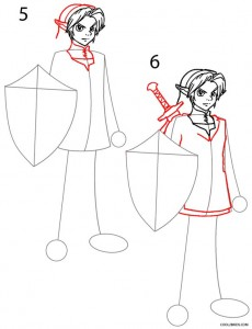 How to Draw Link Step 3