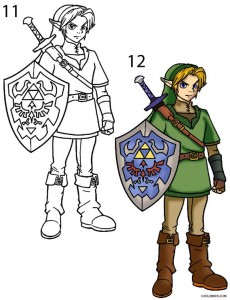 How to Draw Link Step 6