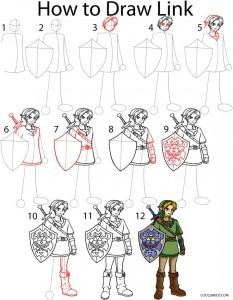 How to Draw Link Step by Step