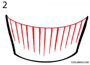 How to Draw a Cupcake Step 2