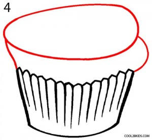 How to Draw a Cupcake Step 4