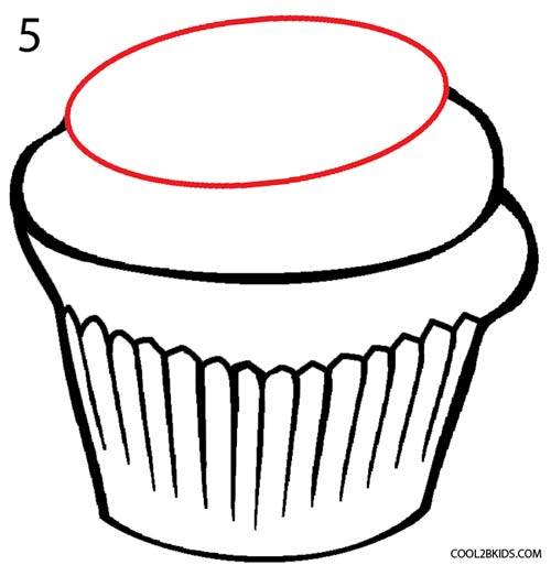 how to draw a cupcake step 5