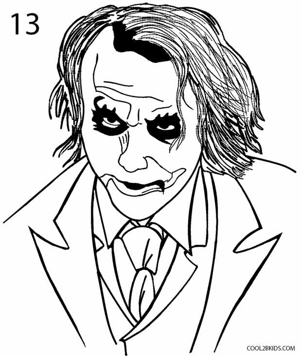 How To Draw The Joker Step By Step Pictures Cool2bkids