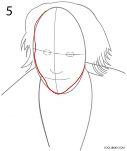 How to Draw the Joker Step 5