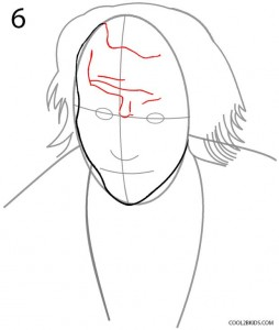 How to Draw the Joker Step 6