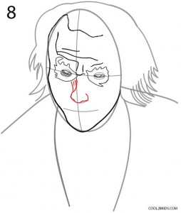 How to Draw the Joker Step 8