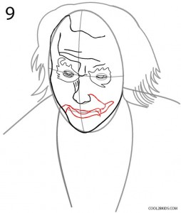 How to Draw the Joker Step 9