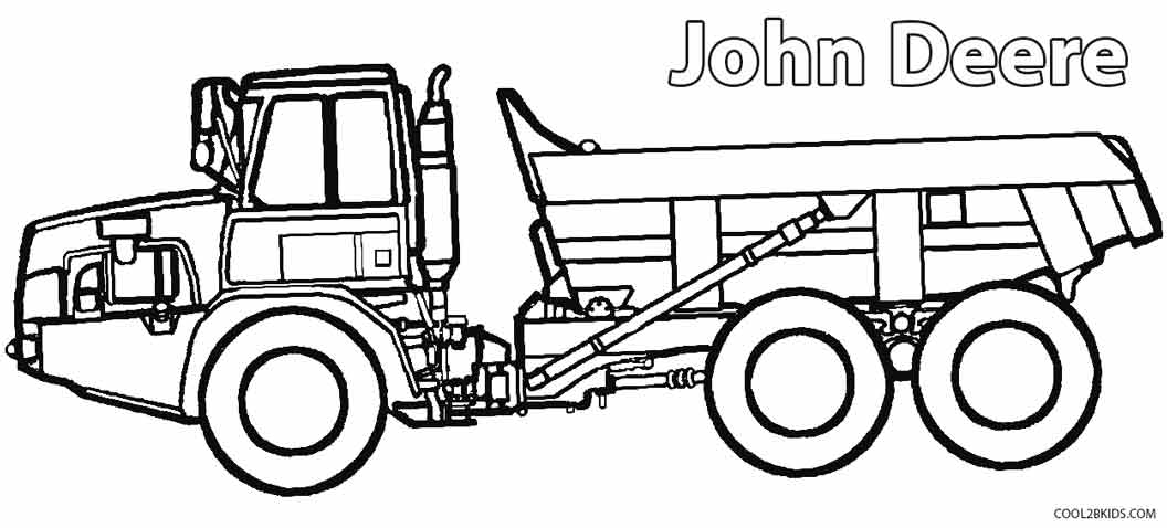 photo relating to John Deere Printable identified as Printable John Deere Coloring Internet pages For Little ones Interesting2bKids