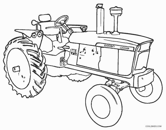 john deere coloring pages to print - John Deere Combine Coloring Pages