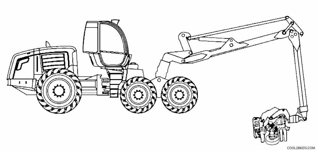 john deere combine coloring pages - John Deere Combine Coloring Pages