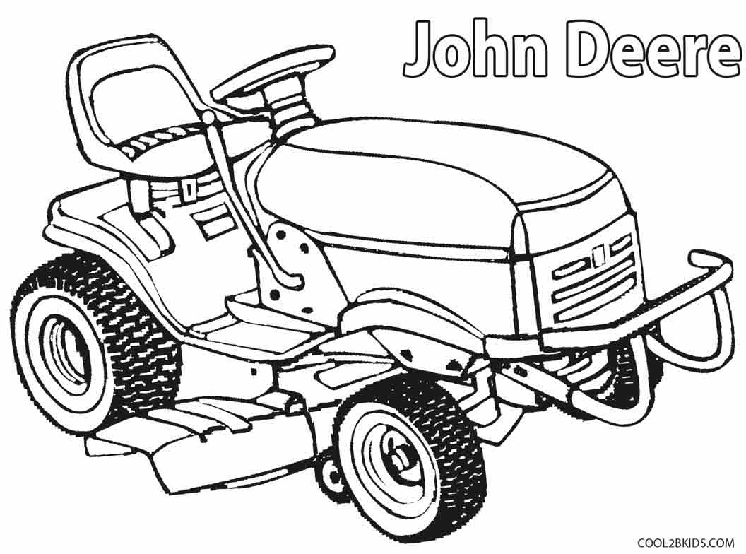 Coloring pictures of cars truck tractors - John Deere Lawn Mower Coloring Pages
