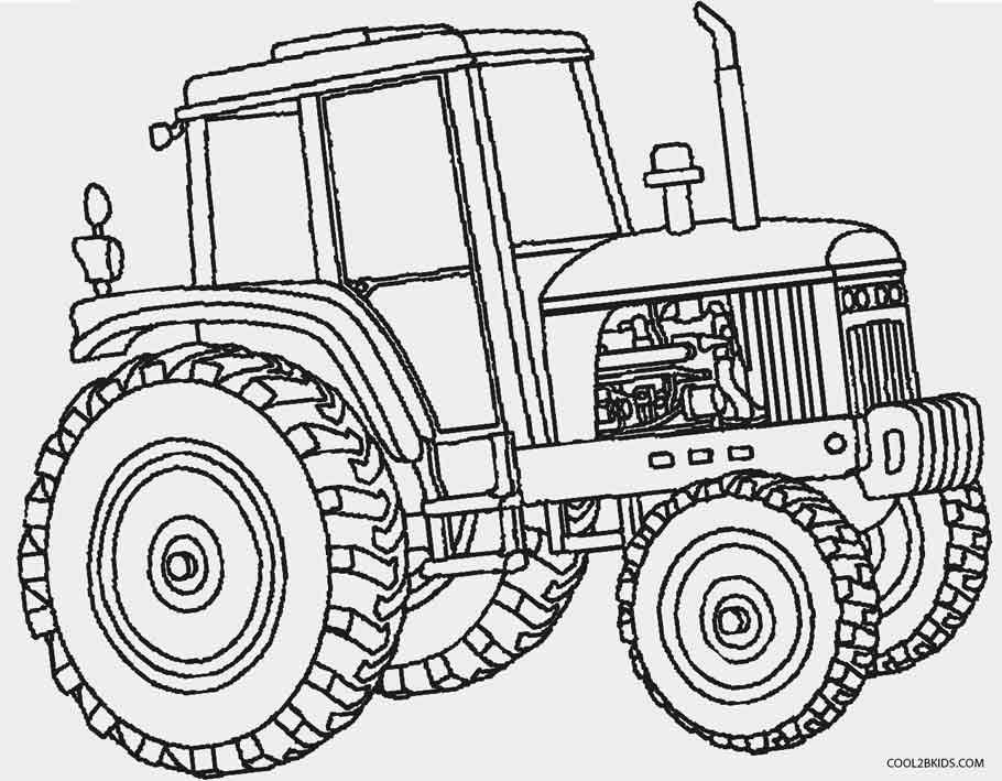 tractors coloring pages to print - photo#1