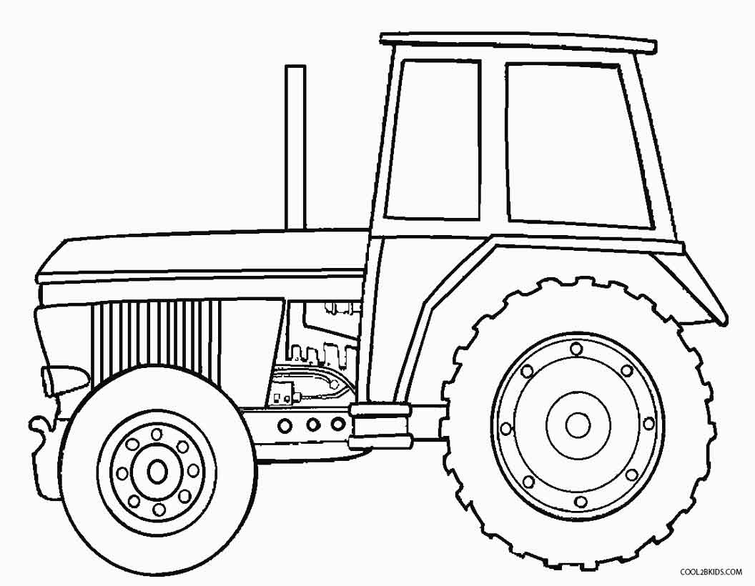 Printable john deere coloring pages for kids cool2bkids for Tractor template to print