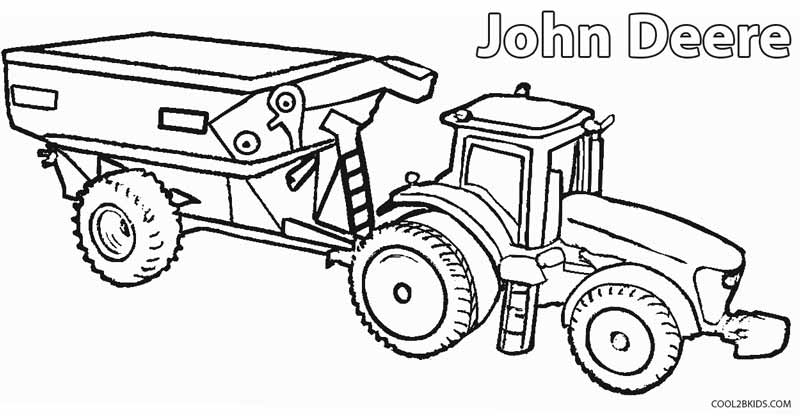 john deere truck coloring pages - John Deere Combine Coloring Pages