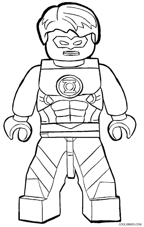 Green Lantern Lego Coloring Pages
