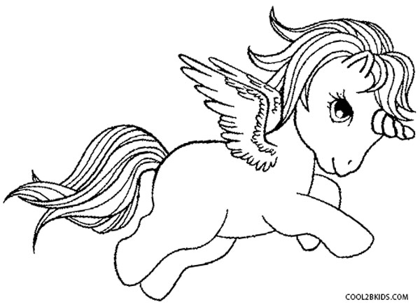 my little pony pegasus coloring pages